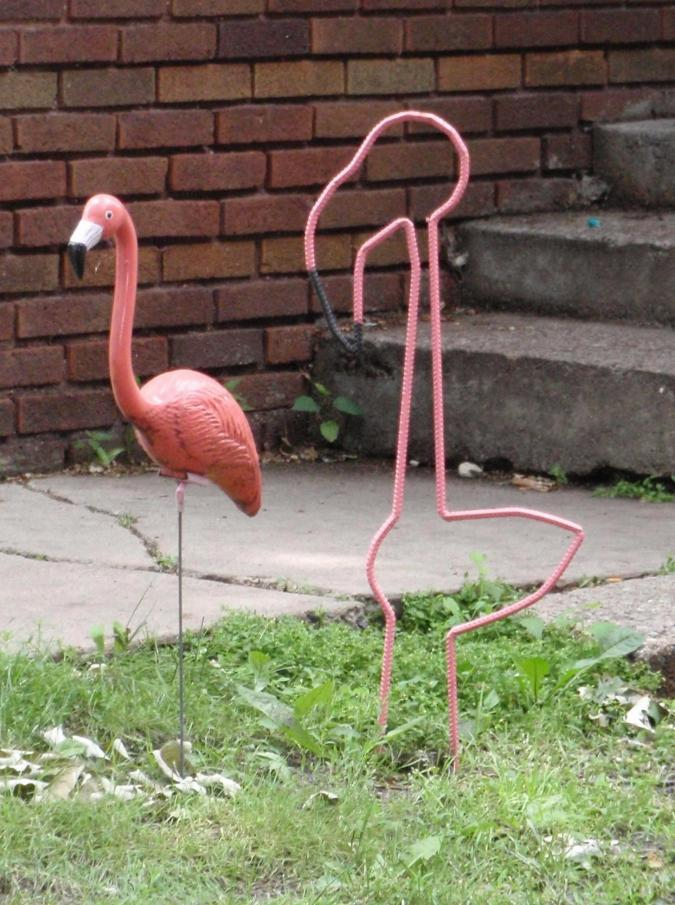 lawn flamingo outline - photo #30